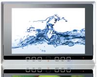 Badkamer tv van splashvision waterdichte televisies for Tv voor in badkamer
