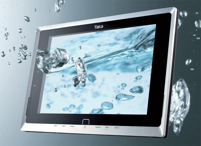 Badkamer tv waterdicht van splashvision ook draadloos