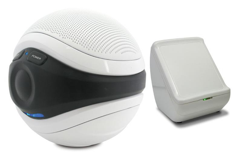 badkamer speaker: muziek in de badkamer of tuin met de speakerbal, Badkamer
